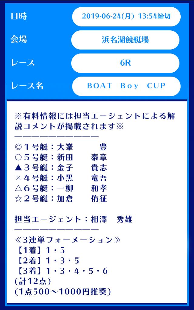 舟生買い目